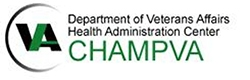 Department of Veteran Affairs Health Administration Center Champ VA logo